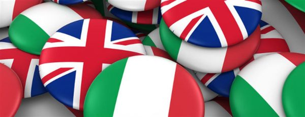Italy And UK Flags 650X250